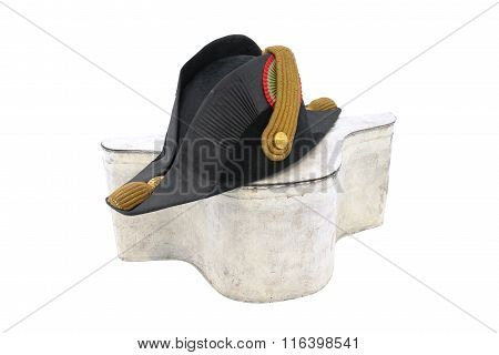 Cocked Hat Of Italian Navy Doctor With Box