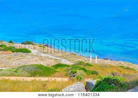 Tharros Coastline On A Sunny Day