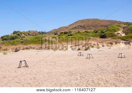Sea Turtle Nesting Site On Zakynthos
