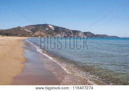 View Of Laganas Bay From The Kalamaki Beach On Zakynthos