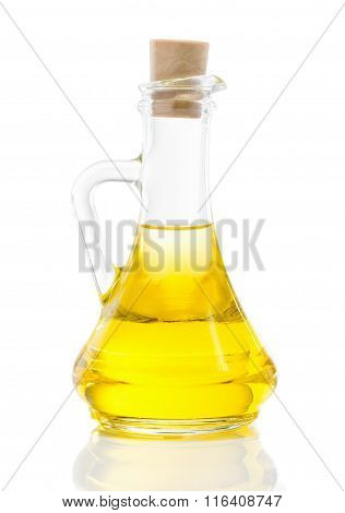 Glass Jug With Vegetable Oil