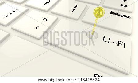 Lifi Emitter On Keyboard