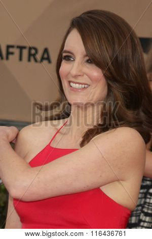LOS ANGELES - JAN 30:  Tina Fey at the 22nd Screen Actors Guild Awards at the Shrine Auditorium on January 30, 2016 in Los Angeles, CA