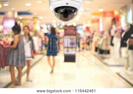 Cctv Camera Spy On The Shopping Mall.