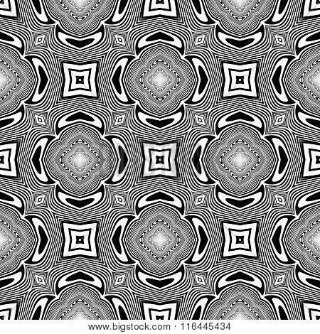 Design Seamless Monochrome Geometric Background