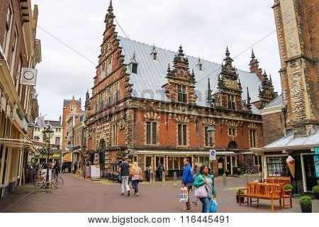 The Vleeshal In Haarlem, View From Lepelstraat. The Netherlands