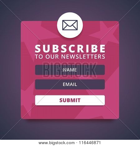 Subscribe to our newsletter form.