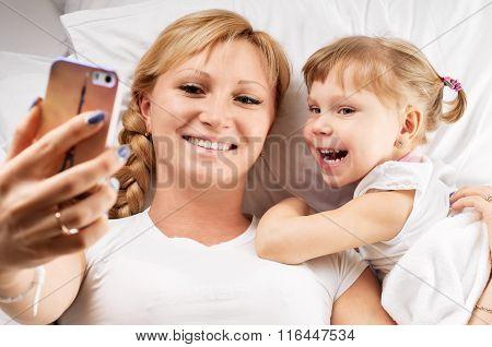 selfie on pillow