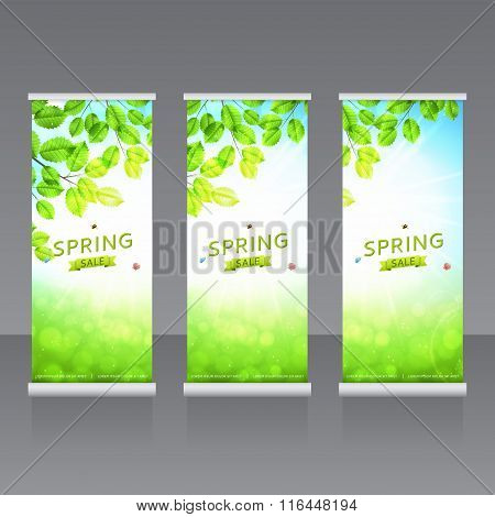 Vector Roll Up Banners Templates
