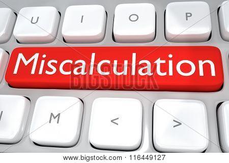 Miscalculation Concept