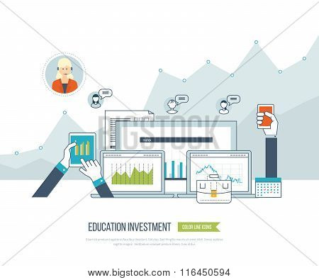 Investment in education. Business development