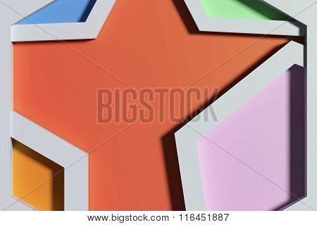 Close-up Of Three-dimensional Colorful Angles