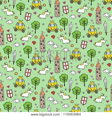 Seamless Patterns With Towers And Broughams