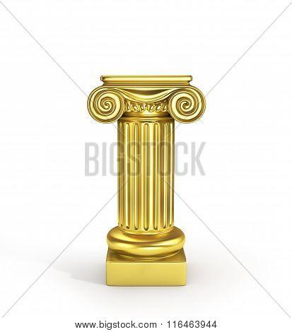 Gold Empty Column Pedestal