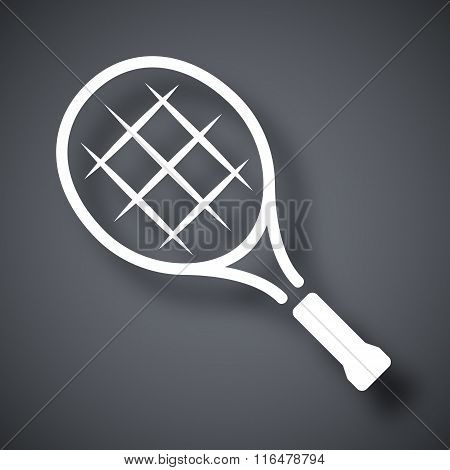 Vector Tennis Racket Icon