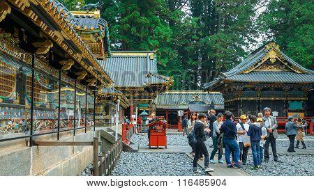 NIKKO JAPAN - NOVEMBER 17 2015: Karamon Gate - The gate of the main Shrine at Tosho-gu shrine
