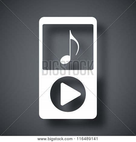 Music Player Icon, Stock Vector