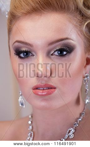 Close Up Bride Portrait