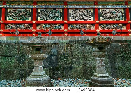 Kairo - The wall of Yomeimon gate at Tosho-gu shrine in Nikko Tochigi Japan