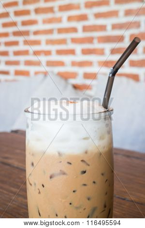 Coffee Mocha Into A Cold Glass