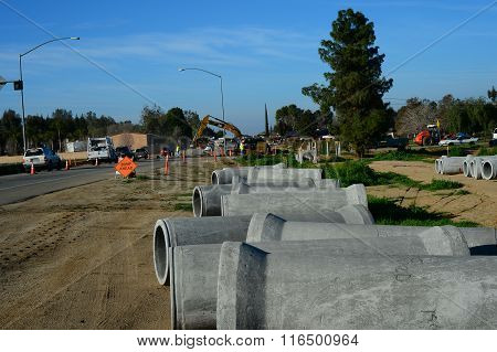 Sewer Line Construction