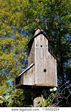 Elevator styled birdhouse