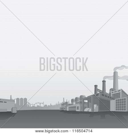 Oil and Gas Refinery. Petrochemical Factory