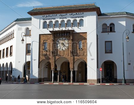 Main Post And Telephone Office Of Rabat. Morocco.