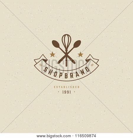 Restaurant Logo Template. Vector Design Element Vintage Style for Logotype