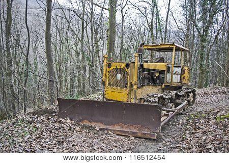 Old Abandoned Bulldozer