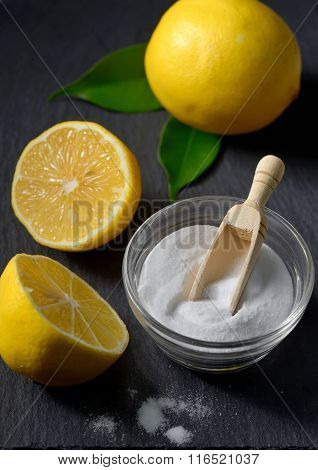Lemon And Baking Soda For Face Scrub
