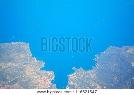 Aerial View Of Costa Smeralda