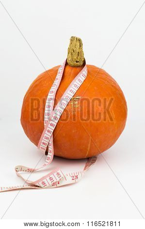 Pumpkin with a measuring tape