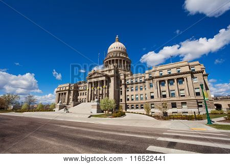 Capitol building and square in Boise, Idaho