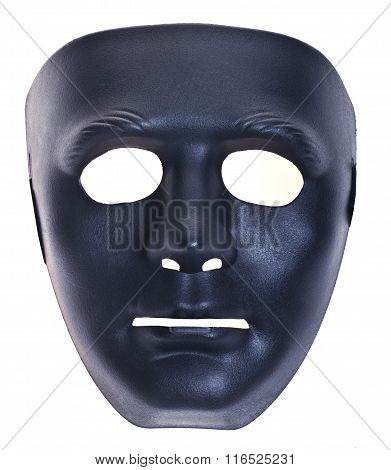 Black Noname Human Mask Isolated White
