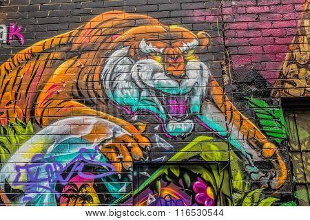 Melbourne graffiti tiger