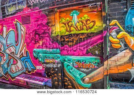 Melbourne graffiti detail
