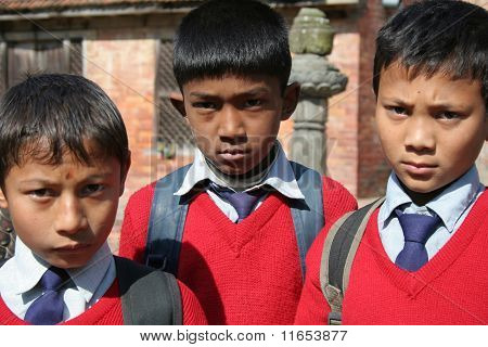 School Students In Uniform