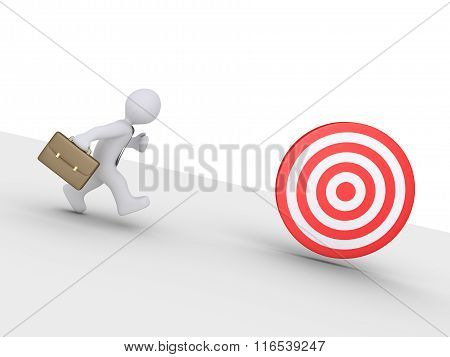 Businessman Is Chasing Target