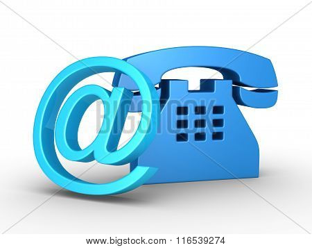 Telephone Symbol And E-mail Symbol