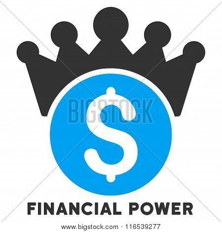 Financial Power Vector Icon With Caption