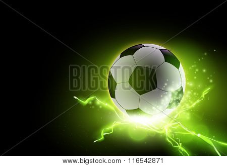 abstract vector football/soccer ball illustration