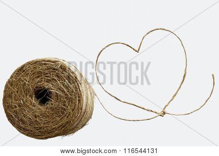 Love Heart At Sisal Rope