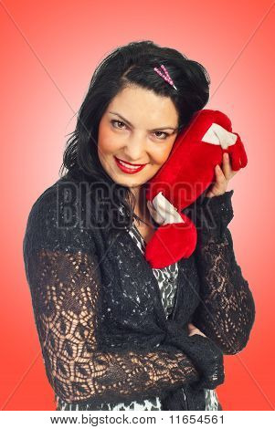 Smiling Woman In Love