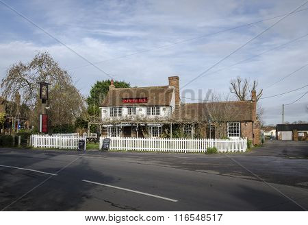 Six Bells Public House In The Village Of Woodchurch, Kent