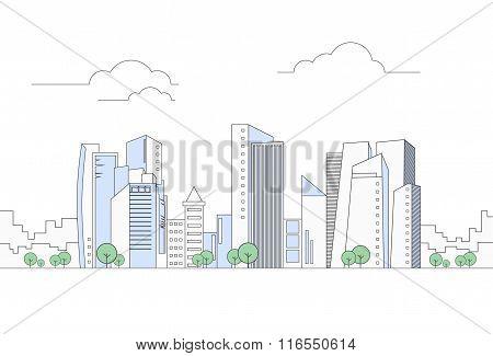 Modern City Megalopolis View Skyscraper Cityscape