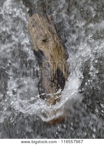 River Log Splash