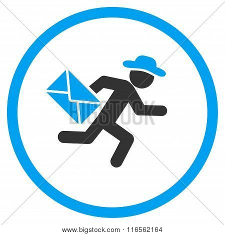 Guy Mail Courier Rounded Icon