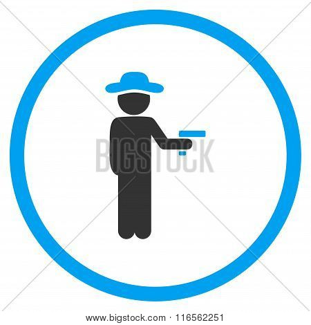 Male Robber Circled Icon