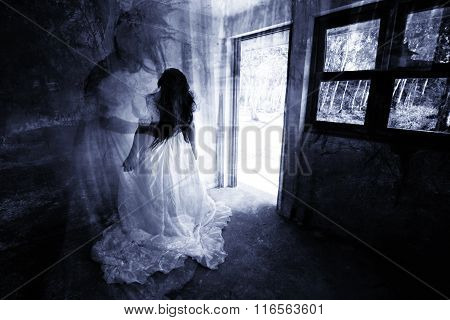Ghost in Haunted House